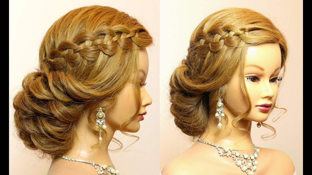wedding prom hairstyles for long hair tutorial. bridal updo. - youtube