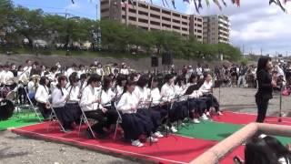 第25回こいのぼりフェスタ1000 高槻二中ブラスバンド 2016/04/29