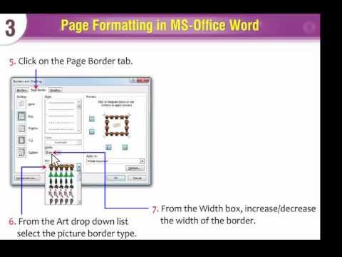 Computer Lesson 100 -  Applying Border And Shading