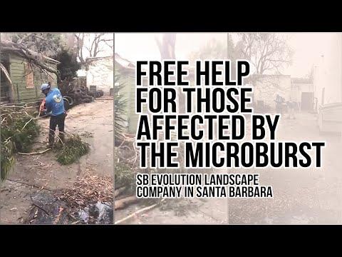 Free help for Affected by the Microburst Santa barbara -SB Evolution Landscape