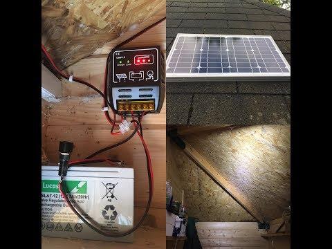 Simple Solar panel installation