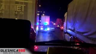 Korytarz (NIE)ratunkowy- zastęp 517[D]42 alarmowo przebija się do wypadku na drodze S8