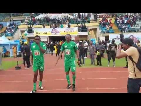 Novelty match between ex super eagles players of nigeria vs team a trip to jamaica