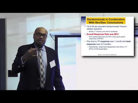 Dr. Craig Cole:  Daratumumab