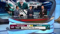 NHL Tonight:  Martin Jones keeps rolling as sharks slow down Avalanche  Apr 26,  2019