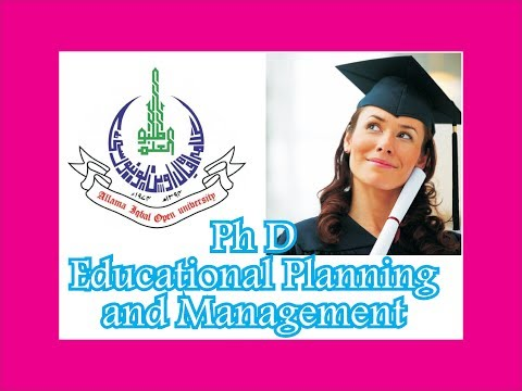 Ph D Educational Planning and Management, AIOU PhD in Education Planning and Management, PhD EPM,