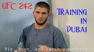 UFC 242 Khabib & Islam Training in Dubai with Abdulmanap Nurmagomedov & Javier Méndez