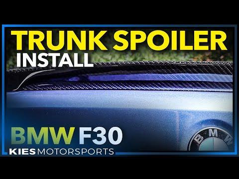 F30 BMW Trunk Lip Spoiler Install DIY (My First REAL Carbon Fiber!) 320, 328, 335, F80, E90