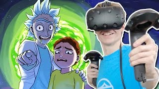 vuclip RICK AND MORTY VR SIMULATOR!  | Rick and Morty: Virtual Rick-ality (HTC Vive Gameplay) Ep 1