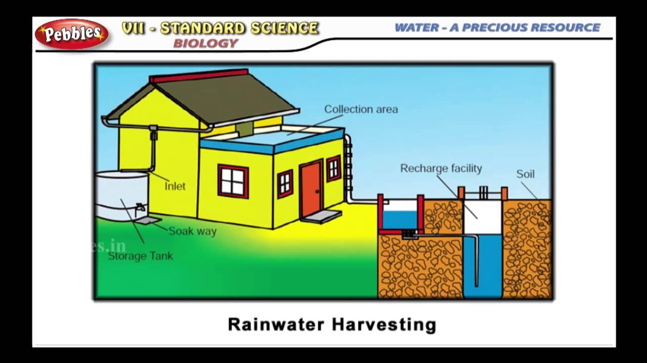 WATER A PRECIOUS RESOURCE || Biology-Rain water Harvesting || TN 7th Std  Science