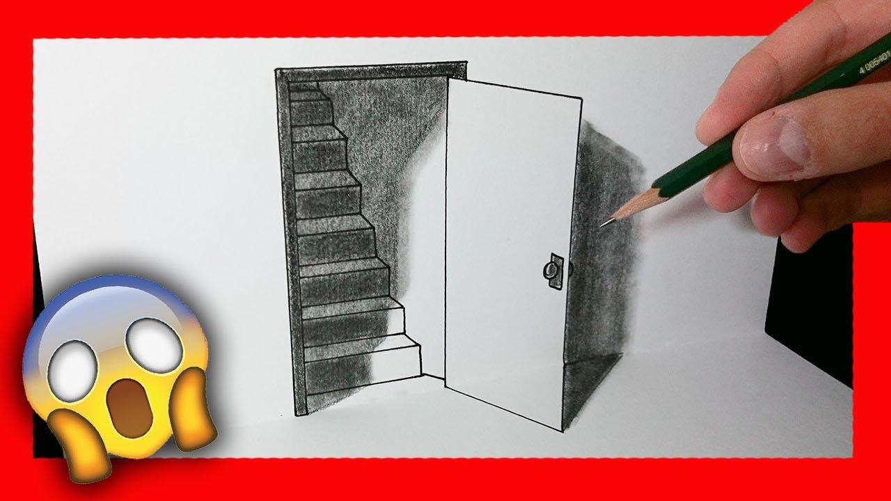 Cómo Dibujar Una Puerta 3D