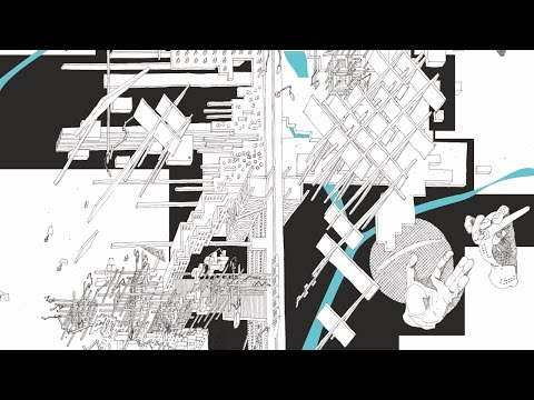 Future of an architecture space. Cybertopia. Death of analogous cities