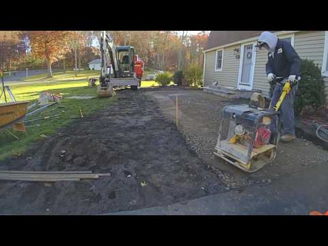How We Build and Install a Uni-Lock Walkway w Techo-Bloc Steps