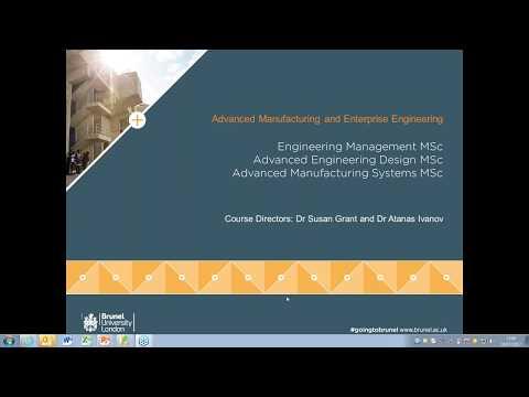 MSc programmes in Engineering, Design, Manufacturing and Management Webinar 19 July 2017