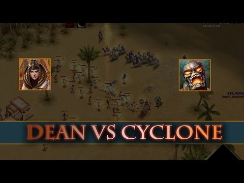Cyclone(Kronos) vs Dean(Isis) - Age of Mythology Expert match
