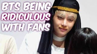 BTS Cute & Funny Moments with Fans!