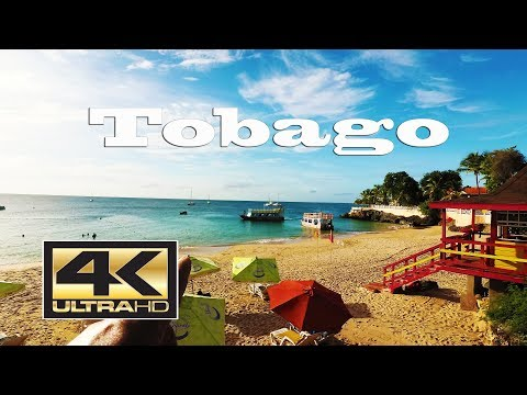 4K Tobago (Trinidad and Tobago) Walking to Store Bay Beach - Sept 2017