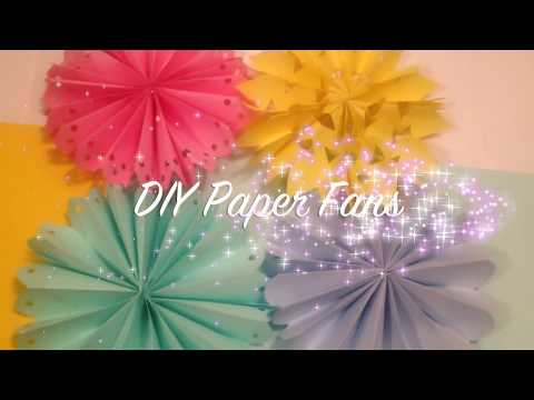DIY Paper Fan Decorations/ Wedding & Party Decor ideas