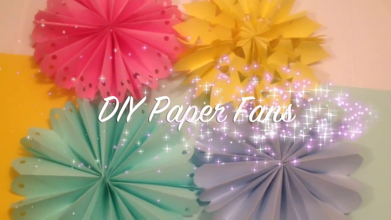 DIY Paper Fan Decorations/ Wedding & Party Decor ideas