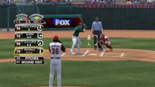 MLB 2K9 PC Gameplay OAK Athletics @ LAA Angels 20090925 1st Top