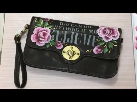 how to paint a leather bag with acrylic