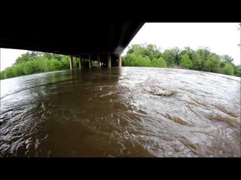 Trinity River Flash Flooding in Dallas Texas May 10, 2015