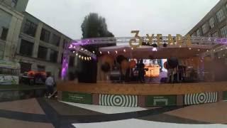 Главная сцена на фестивале Уличной еды «Азия» на арт-заводе «Платформа» в Киеве