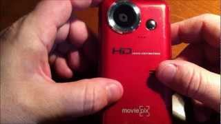MoviePix DV-20 720P HD Pocket Digital Video Camcorder (RED)