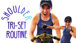 3 EASY EXERCISES for SEXY SHOULDERS (쌕쉬한 일자어깨 만들기) | DELTOID TRI-SET