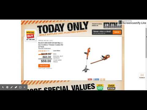 GREAT DEAL AT THE DEPOT TODAY !!!!