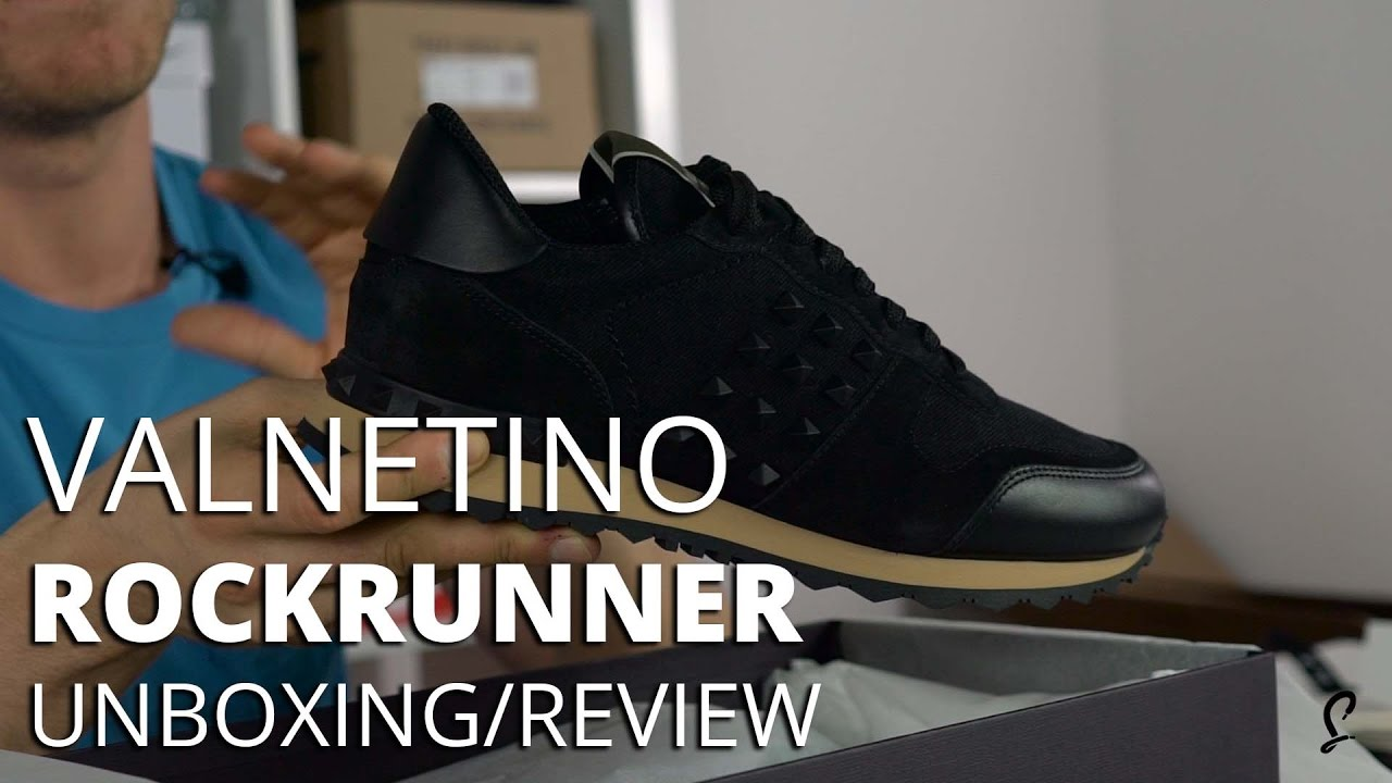 4f0363bf78ae4 Valentino Rockrunner Black Gum Premium Unboxing / Review - YouTube