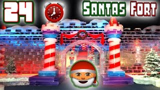 24 HOUR OVERNIGHT CHALLENGE IN SANTA'S SNOW FORT!⏰🎅