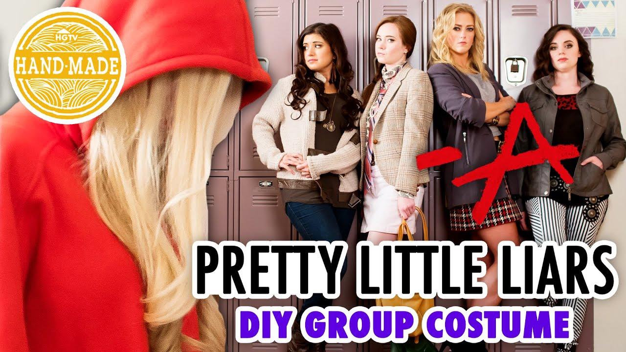 pretty little liars diy halloween costume hgtv handmade youtube
