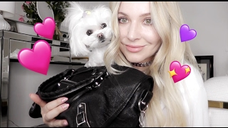 WHATS IN MY BALENCIAGA DOG PURSE ?!