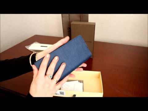 Портмоне кожаное синее LOUIS VUITTON BRAZZA WALLET EPI LUX M60615