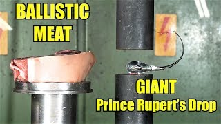 How DANGEROUS Are Prince Rupert's Drops? Hydraulic Press Test!
