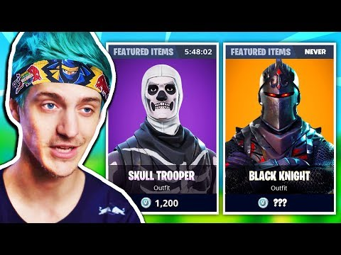 Ninja Explains Why Skull Trooper NEVER Was As Rare As BLACK KNIGHT SKIN | Fortnite Daily Moments