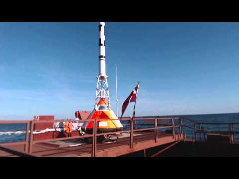 LES/TDS launch T-1m: Sputnik launch platform camera (short version)