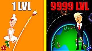 Golf Orbit! MAX LEVEL GOLF STRENGTH EVOLUTION! Orbit Golf Level 999? Pika Guyy