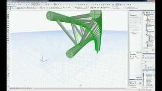 Tutorial ArchiCAD 16 - Grinda cu zabrele spatiala curba