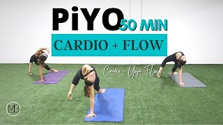 50 Min PiYO Cardio Flow | At Home Workout | Yoga, Strength, Flexibility