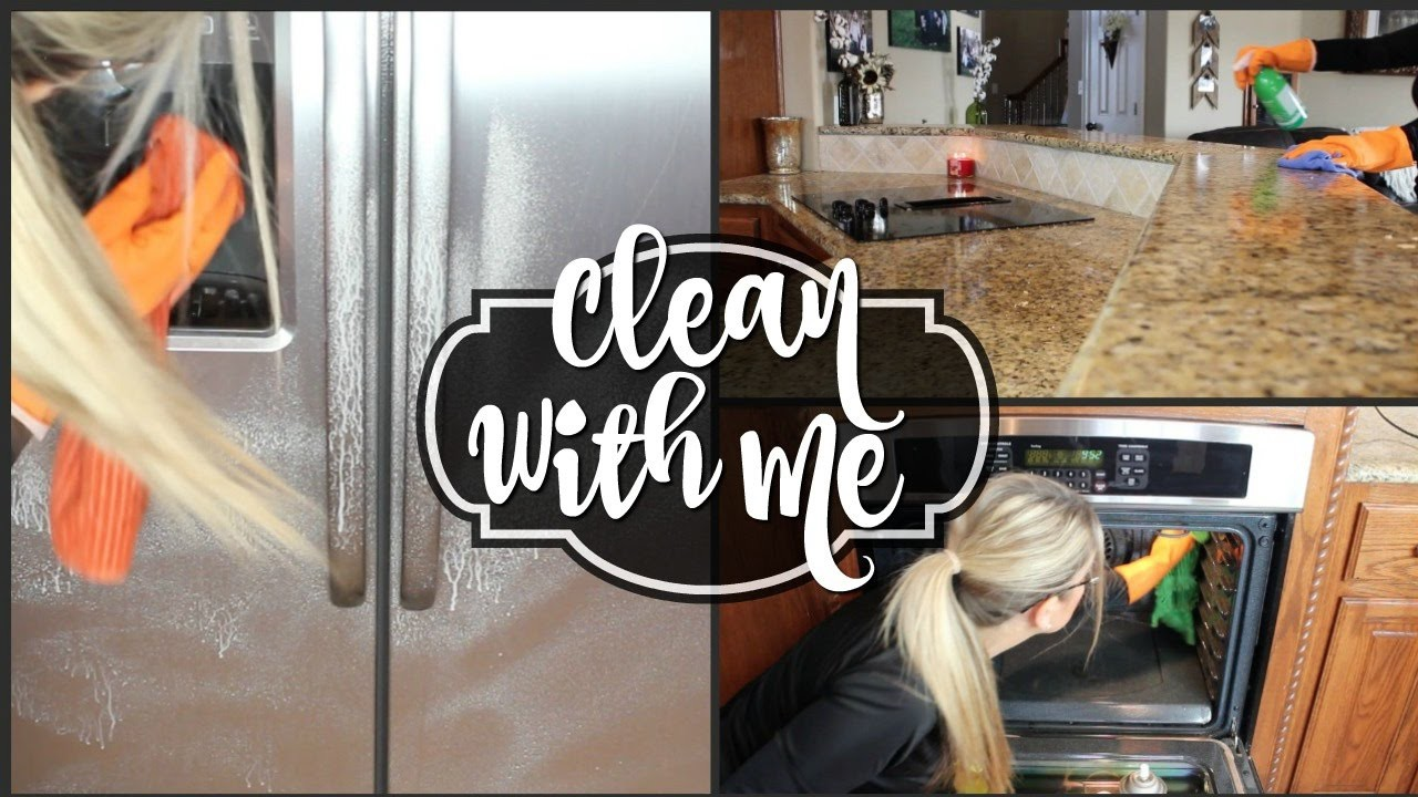 💜 CLEAN WITH ME 💜 CLEANING MOTIVATION - DEEP CLEAN KITCHEN ...