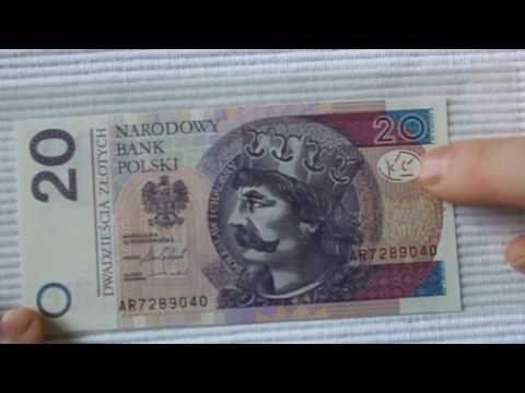 Polish 20 (PLN) Zloty bill. Analysis.