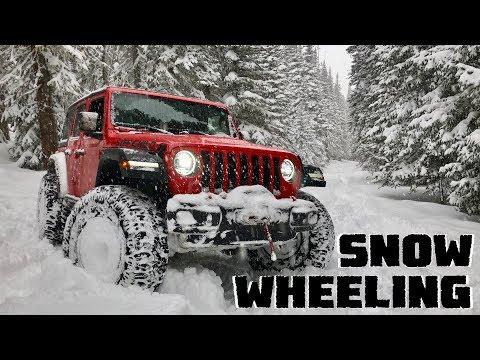 We Go Snow Wheeling in our Jeep Wrangler JLU Rubicon & Test the Milestar Patagonia Tires!