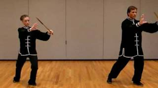 Sifu Chris and student Nicole demonstrate Tai Chi for Arthritis 32 Sword Forms