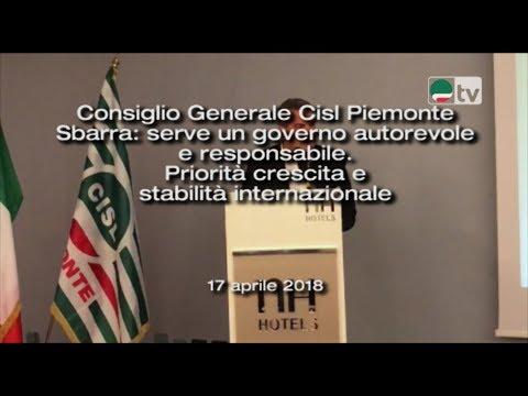 Consiglio Generale Cisl Piemonte Sbarra: serve un governo autorevole e responsabile.