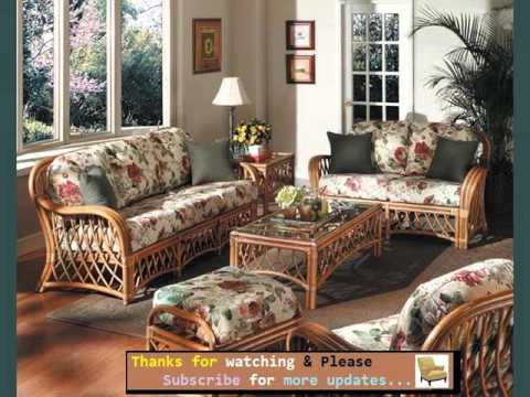 Set Wicker Furniture In Living Room Romance