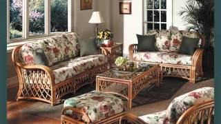Set Of Wicker Furniture In Living Room Romance