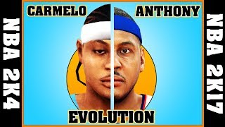 CARMELO ANTHONY evolution [NBA 2K4 - NBA 2K17] 🏀