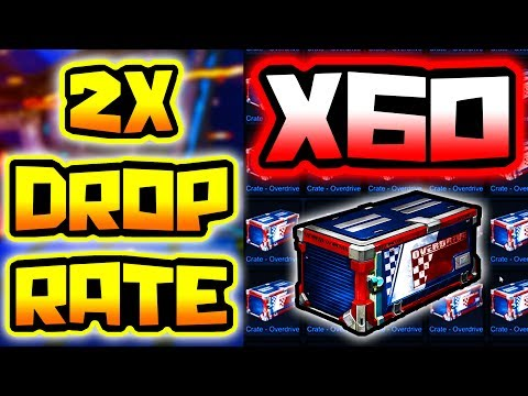 "60+ OVERDRIVE Crate Opening - NEW ""2X Painted Drop Rate"" ( Rocket League )"